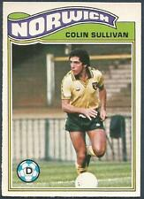 TOPPS 1978 FOOTBALLERS #259-NORWICH CITY-COLIN SULLIVAN