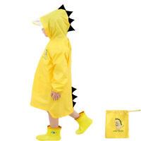 Infant Child Kid Boy Girl Raincoat Rain Jacket Cartoon Lightweight Rainwear Coat