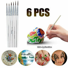 6Pcs Detail Paint Brush Set Miniature Art Brushes Fine Detailing Crafts DIY Tool