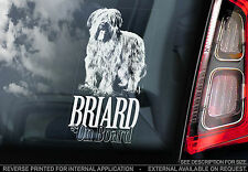 Briard - Car Window Sticker - Berger de Brie Dog on Board Sign Art Gift