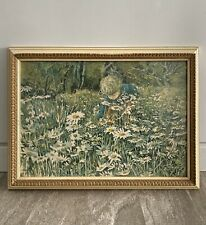 "Carolyn Blish Signed Print ""A Sea Of Daisies"" Framed Print Vintage Color"