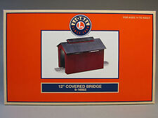 """LIONEL 12"""" LIGHTED COVERED BRIDGE O GAUGE train red tunnel country 6-16882 NEW"""