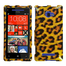 For HTC Windows 8X HARD Protector Case Snap on Phone Cover Leopard