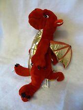 "16"" NANCO Animaland RED & GOLD DRAGON Plush Stuffed Animal"