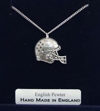 American Football NFL Necklace in Fine English Pewter, Hand Made and Gift Boxed