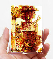 London Frau /Kühlschrank oder Office Magnet/Kunstdrucke Maße:95x65mm S.Hahonin
