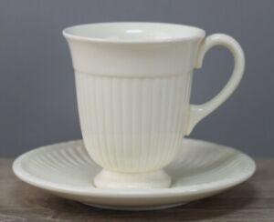 Wedgwood Edme Cream Edme Creamware Kaffeetasse mit Untertasse/Unterteller Tasse
