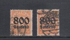 Deutsches Reich Dienst Mi-Nr. 95 X+Y gestempelt