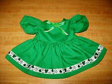 "16"" CPK Cabbage Patch Kids GREEN IRISH ST PATRICK'S DAY SHAMROCK RIBBON DRESS"