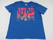 NIKE SWOOSH - TRY TO STOP ME - OMBRE CAMO PRINT LOGO -MEDIUM BLUE T-SHIRT - T393