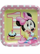 Minnie's 1st Birthday Minnie Mouse Party Supplies Large Lunch Plates 8ct.