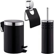 3 teiliges badset klopapierrollenhalter klobrste eimer toilettenpapierhalter - Freistehender Toilettenpapierhalter Mit Lagerung