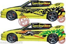 2 Fast 2 Furious Brians Car Body Aufkleber Set 180x34cm Tattoo Seitenaufkleber