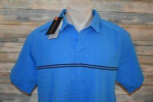 NWT UNDER ARMOUR HEAT GEAR LOOSE XL Men's S/S Polyester Golf Polo Shirt Blue