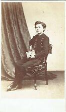 Photo cdv : J.Sereni ; Jeune collégien dans son uniforme en pose , vers 1865