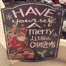 Chalk Holiday Decor Picture With Sparkle