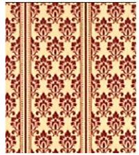 Dolls House Harriet Stripe Apricot Wallpaper Sheet 1:12 Scale 42cm x 29cm HT600
