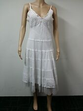 NEW FAST to AUS - Connected Apparel - Sleeveless Dress - Size L -  White - $69