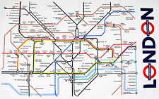 London Underground Map Tea Towel BNWT | 100% Cotton | Gift | Tube Map (ba) |GIFT