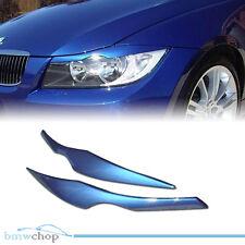 Painted BMW E90 Sedan 3-Series Headlight Eyelids Eyebrows 06