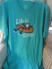 "LIFE IS GOOD MEN S/S 100% COTTON CRUSHER TEE  JAKE ""INNERTUBE CHILL""...(L)"