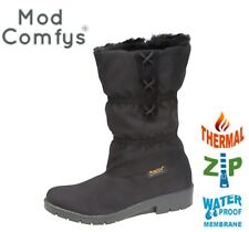 SALE Ladies Thermal Warm Lined Winter Snow Boots - Waterproof Foot  Black Size 7