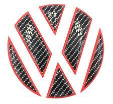 Carbon Schwarz/Rot Hochglanz 3D Aufkleber VW Golf 6 Emblem hinten GTI GTD Ecken
