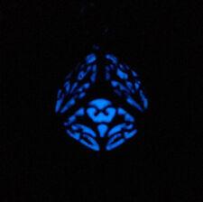 heart flower hollow beads Aqua Blue Glow in the Dark Luminous Pendant Necklace