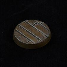 25mm (5) Wood Plank Custom Scenic Resin Miniature Base Fantasy Warhammer 40k