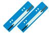 500 Stück Aktendulli Kösterstreifen Heftstreifen kurz 3,5x15 cm DIN A4+A5 h'blau