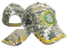 U.S. Army Emblem Digital Camouflage Shadow Camo Embroidered Cap Hat