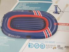 inflatable boat   caravelle 300 combo pack 3 person+ 12v motor