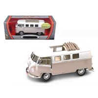 1962 Volkswagen Microbus With Retractable Roof Cream 1/18 Diecast Car by Road...