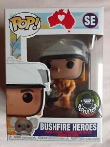 BUSHFIRE HEROES Popcultcha Exclusive Fire Fighter Koala Funko Pop Vinyl Figure!