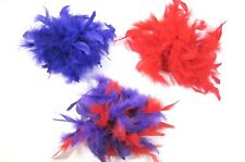 Three Red Purple Chandelle Feather Pin Clip Hat Hair Decorations Society Ladies