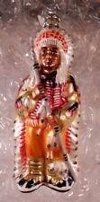 Kurt Adler Glass Indian Chief Christmas Ornament Polonaise