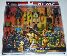 G.I.JOE 2006 PLAGUE TROOPERS VS STEEL BRIGADE 6-PACK MOC NEU & OVP GI JOE RARE