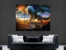 Póster de pared gigante Dragón Fantasía Arte Foto Impresión Grande