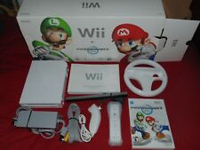 Nintendo Wii Console System Complete in Box With Mario Kart & Wheel RARE
