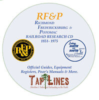 RF&P - OFFICIAL GUIDES, EQUIPMENT REGISTERS & RESEARCH SCANNED TO CD