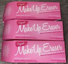 3x The Original MAKE UP ERASER Makeup Remover Cloth Full Size PINK