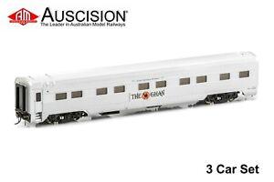 Auscision (APS-14) The Ghan® MK3 - 3 Car Add-on Set, 1998-2002 Era - HO Scale