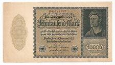 1922 Reichsbanknote 10000 Marks Uncirculated Banknote