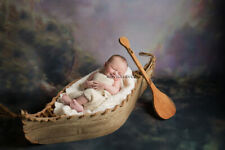 Canoe Prop -- TWO Sided Canoe Photography Prop with Oar -- Newborn Prop Boat