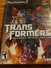 Transformers Revenge of the Fallen PS2 Complete Game Case And Manuel CD is mint