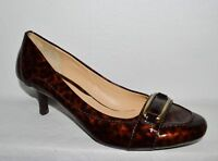 COLE HAAN NEW SZ 10 B BROWN TORTOISE PRINT PATENT LEATHER PUMPS HEELS SHOES
