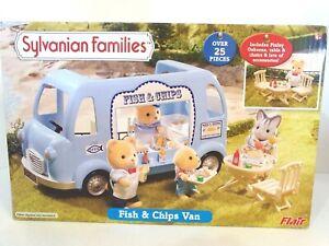 Sylvanian Families - Fish & Chips Van RARE - 4677