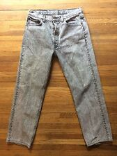 Vintage 1980s Mens LEVIS 501 BLACK ACID Wash Jeans  Button Fly USA 34 X 30