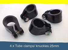 4 x Boat canopy fittings knuckles/ tube clamps