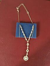 """Necklace Nib 2008 Avon'S Deco Pave """"Y"""""""